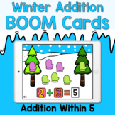 Boom Cards - Winter Add Within 5