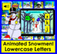 Boom Cards™ Winter Alphabet Lowercase Letter Recognition - Animated Snow People