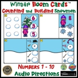 Boom Cards ™ Winter Counting Numbers Build a Snowman