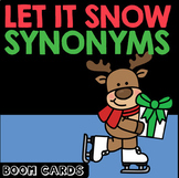 Boom Cards | Winter Holiday Synonyms | ELA | Speech Therapy