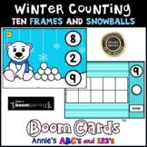 Boom Cards™ Winter Kindergarten Counting