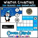 Boom Cards ™ Winter Kindergarten Counting Ten Frames