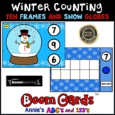 Boom Cards ™ Winter Kindergarten Counting with Audio