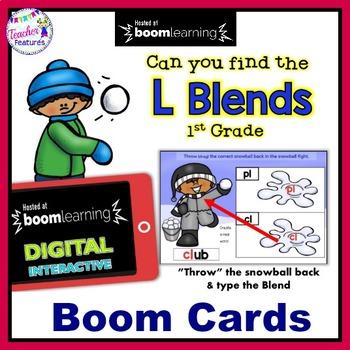 Boom Cards Winter | L Blends | Consonant Blends | Penguins