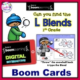 WINTER BOOM CARDS : Consonant Blends (L Blends)  Penguin Theme