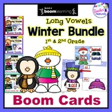 Boom Cards Winter | Long Vowels | Snowman | Penguins | BUNDLE