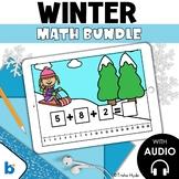 Boom Cards Winter Math Bundle First Grade