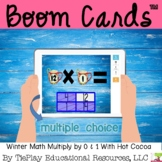 Boom Cards Winter Math Multiplication by One and Zero Distance Learning
