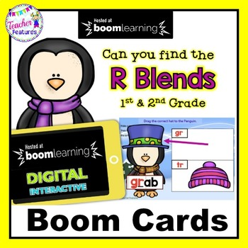 Boom Cards Winter | R Blends | Consonant Blends | Penguins