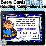 Boom Cards Winter Reading Comprehension