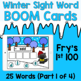 Boom Cards - Winter Sight Words - Fry's First 100 [Part 1]