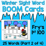 Boom Cards - Winter Sight Words - Fry's First 100 [Part 2]