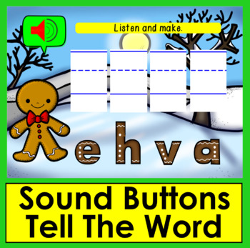 Boom Cards™ Winter Sight Words Unscramble - Dolch Words 41-66 Primer - Sound!