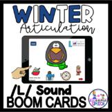 Boom Cards: Gliding | Initial L | Medial L | Final L | Winter Articulation Game