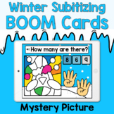 Boom Cards - Winter Subitize to 10 - Mystery Picture