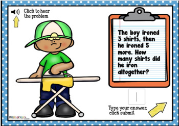 Boom Cards Word Problems