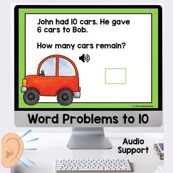 Boom Cards Word Problems Addition and Subtraction