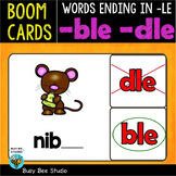 Boom Cards | Words Ending in -LE (ble, dle) Cards