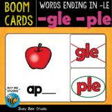 Boom Cards | Words Ending in -LE (gle, ple) Cards
