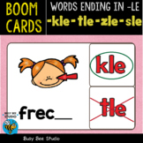 Boom Cards | Words Ending in -LE (kle, tle, sle, zle) Cards