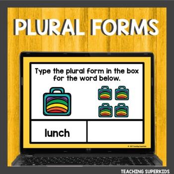 Boom Cards Words Plural Words s or es