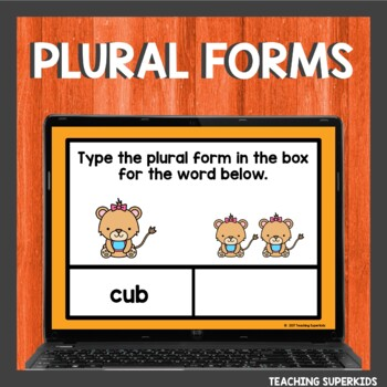 Plural Words s or es Boom Cards