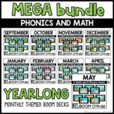 Boom Cards™   YEARLONG Themed First Grade Math and Phonics