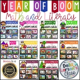 Boom Cards Math and Literacy Year Long BUNDLE