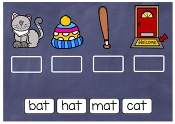 Boom Cards: -at Word Family Practice
