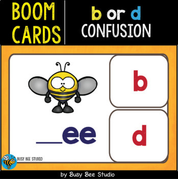 Boom Cards   b or d confusion cards
