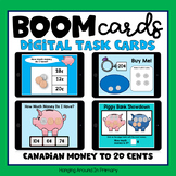 Boom Cards for Distance Learning - Canadian Coins to 20 Cents