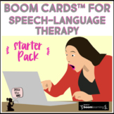Boom Cards™ for Speech-Language Therapy Starter Pack BUNDLE Distance Learning