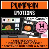 Describe and Carve Pumpkin Emotions Speech Therapy No Prep Boom Cards™