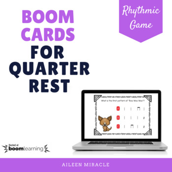 Boom Cards for the Music Room {Quarter Rest}