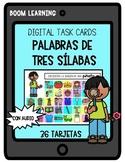 Boom Cards in Spanish- Busca palabras de tres sílabas