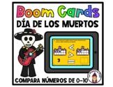 Boom Cards in Spanish- Compara de 0-10- Día de los Muertos