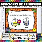 Boom Cards in Spanish - LEO ORACIONES- LA PRIMAVERA - SPRI