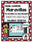 Boom Cards in Spanish- Maravillas Sight Word Practice