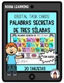 Boom Cards in Spanish-Palabras de tres sílabas- Palabras secretas