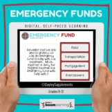 Boom Cards™ on Emergency Funds for Personal Finance