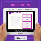 Boom Cards™ on Rule of 72 for Personal Finance
