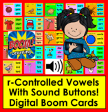Boom Cards™ r-Controlled Vowels  25 Self-Chkg Cards w/Sound Distance Learning