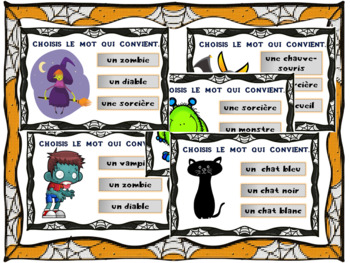 Boom CardsTM – Halloween Vocabulaire 20 Task Cards