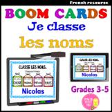 Boom CardsTM – Je classe les noms (+précis grammatical) Ta