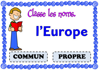 Boom CardsTM – Les noms communs et propres (+précis grammatical) Task Cards