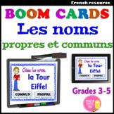 Boom CardsTM – Les noms communs et propres (+précis gramma