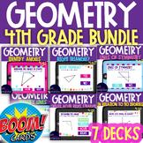 7 Boom Decks: 4th Grade Geometry BUNDLE 4.g.1, 4.g.2, 4.g.