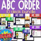 Boom Card Deck Bundle: ABC Order 10 decks for months August-May