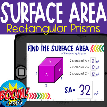 Boom Cards: Finding Surface Area
