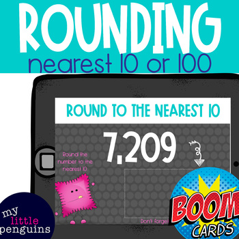 Boom Deck: Rounding to the Nearest 10 or 100